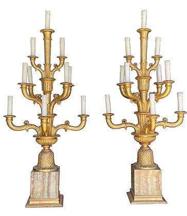 Pair of Italian Giltwood Candelabra - Circa 1810.jpg