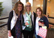 Women with Coffee and Gift Bag at the Catholic Women's Conference