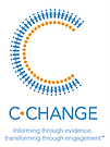 C-Change - logo for Canadian Cardiovascular Harmonized National Guidelines Endeavour - Informing through evidence, transforming through engagement.