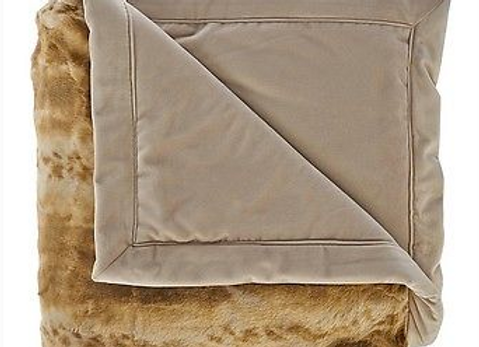 DENNIS BASSO Platinum Posh Faux Fur Throw