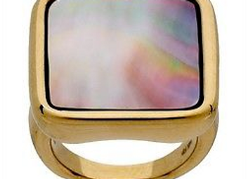 Bold Square Mother-of-Pearl Ring