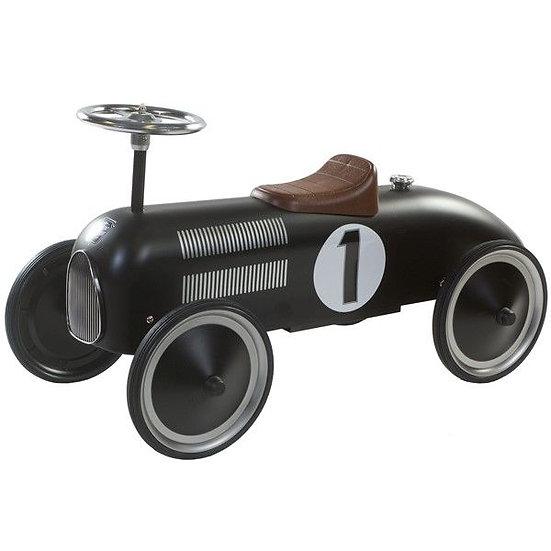 Retro loopwagen zwart (incl naam)