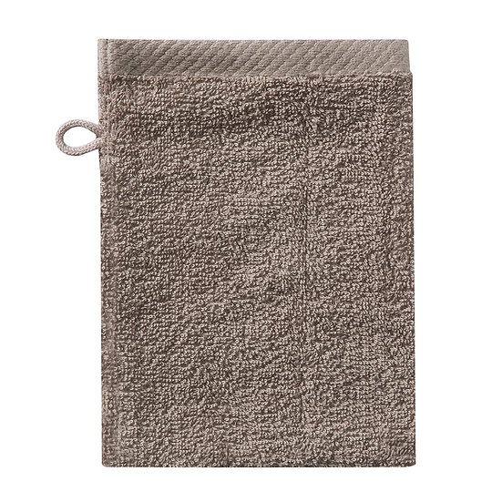 Washand pure taupe (incl initialen)