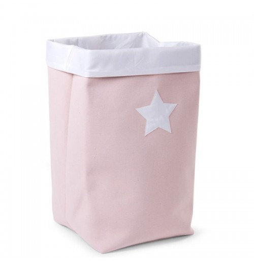 Canvas plooimand soft pink XL (incl naam)
