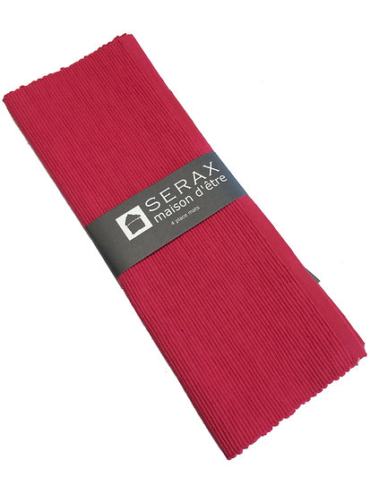 Placemat rood (incl naam)
