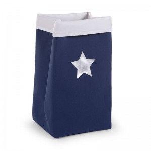 Canvas plooimand marine blauw XL (incl naam)