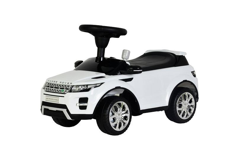 Loopwagen Land Rover Evoque wit (incl naam)