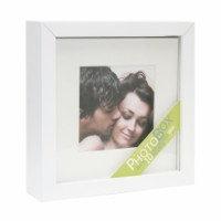 Fotobox passe-partout wit   foto's 13x13cm (incl naam)