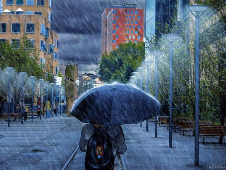 """Fotomontaje """"Tarde lluviosa"""""""