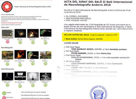 Sorpresa en el II Salón Internacional de Macrofotografía de Andorra 2018
