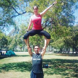 #acroyoga #fun _the #park #standingacro