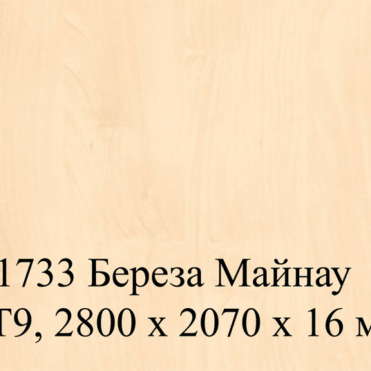 H1733 Береза Майнау ST9, 2800 х 2070 х 1
