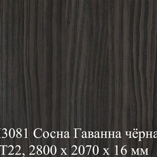 H3081 Сосна Гаванна чёрная ST22, 2800 х