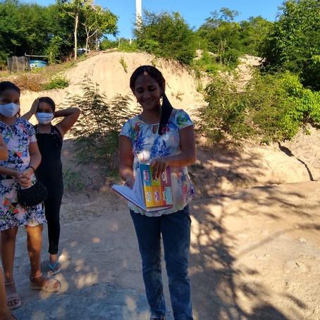 A Boaçãonaria novamente visita a Comunidade Água Branca de Baixo   e ganha presentes. (1ª parte)