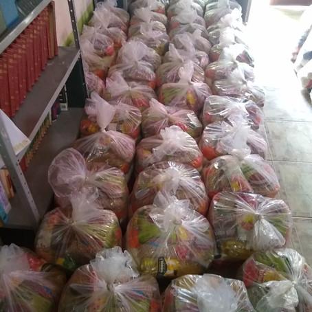 Através da união, a Boaçãonaria consegue 76 cestas básicas para comunidades no Jequitinhonha