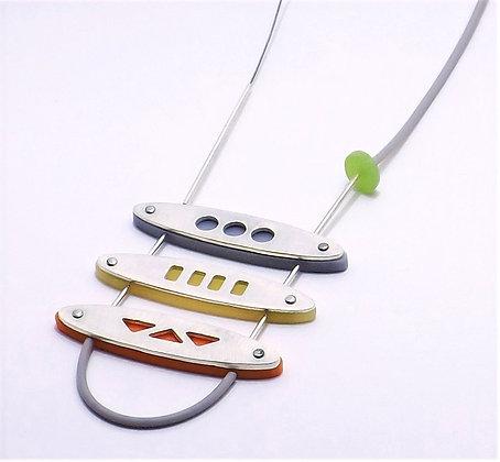 Asym Cut Out Vinette Necklace