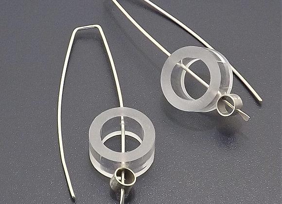 Acrylic & sterling tube Earring