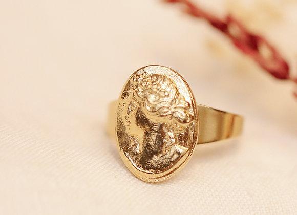 Bague réglable Sidonie doré à l'Or à fin