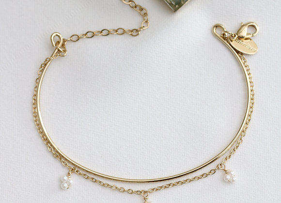 Bracelet Lola 2 en 1 perles d'eau douce
