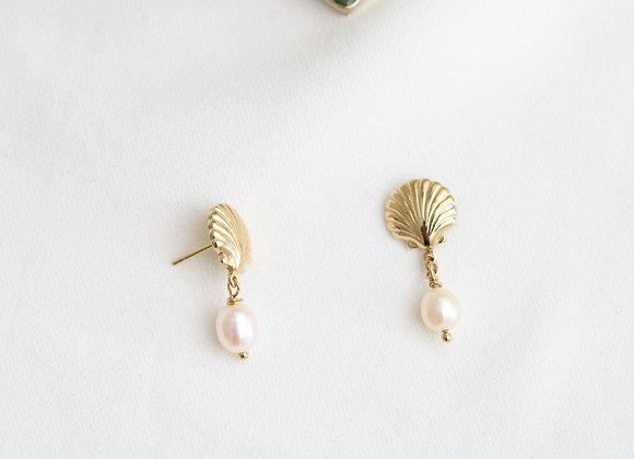 Boucles d'oreilles Océane perles d'eau douce