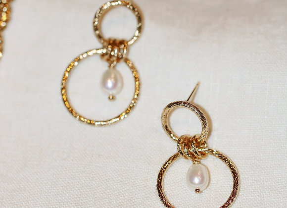 Boucles d'oreilles Laura perles