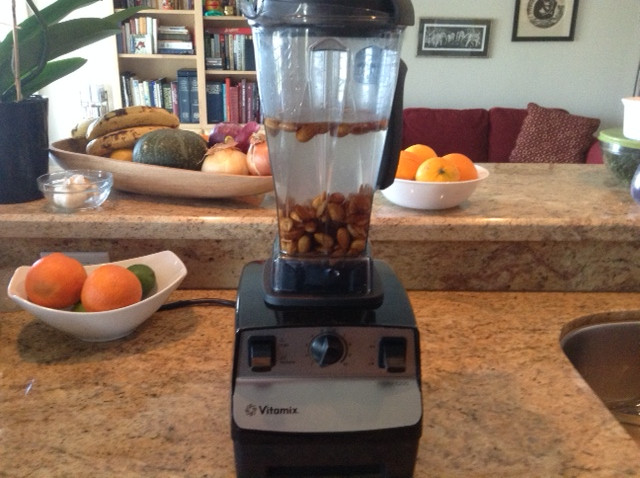 home-made almond milk in Vitamix