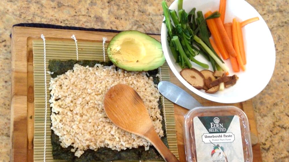 Vegetable Sushi Ingredients