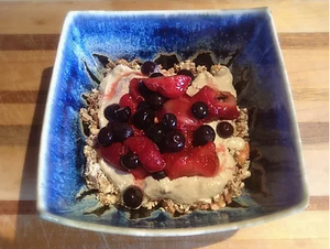 Add fresh berries on top