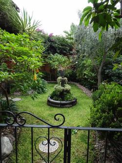 Organic garden on lower terrace