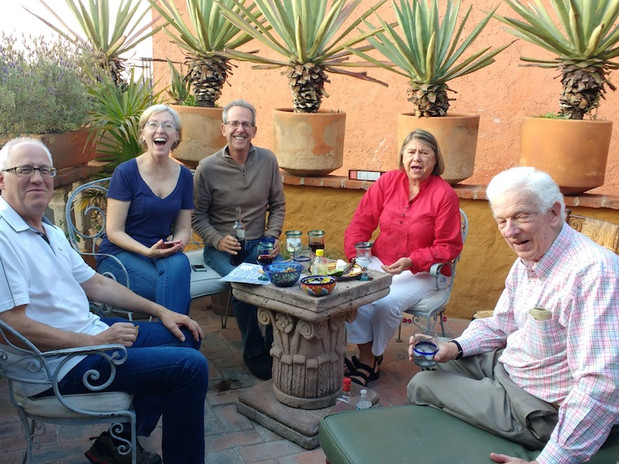 A few of our guests recently enjoying the terrace.