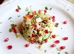 Mediterranean Sprouted Lentil Salad