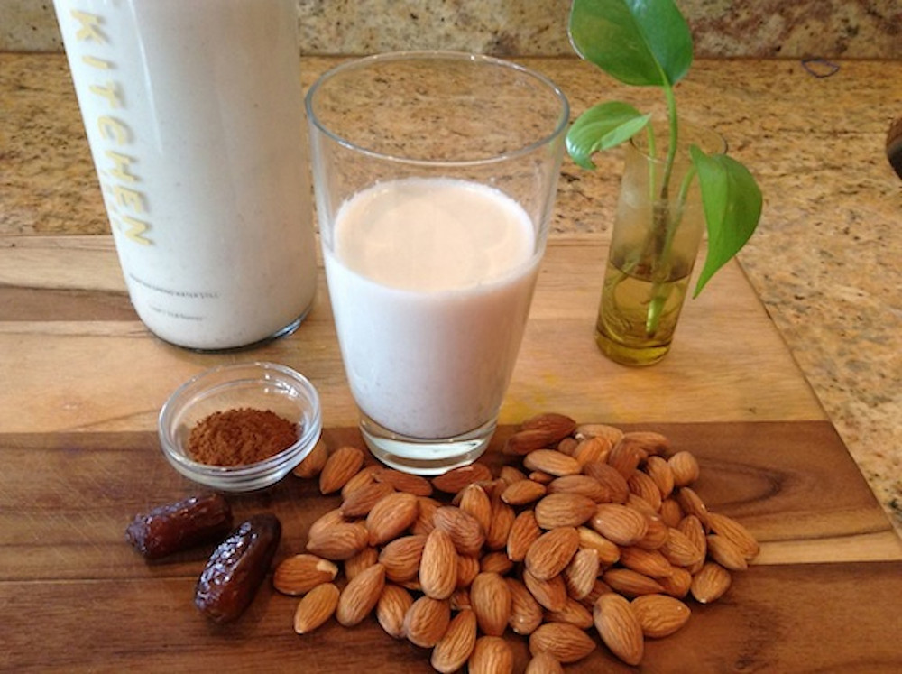 Home-made almond milk