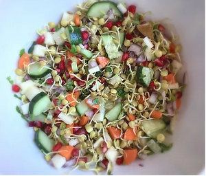 Sprouted-lentil salad