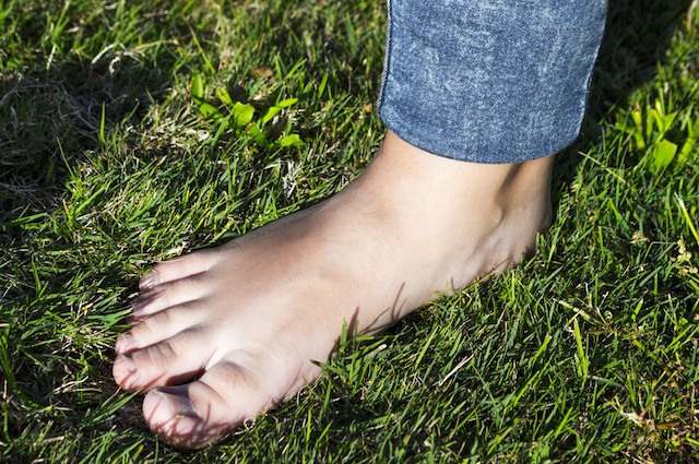 Get grounded by walking on grass