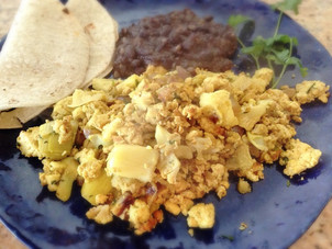 Mexican Scrambled Tofu Faux-Eggs