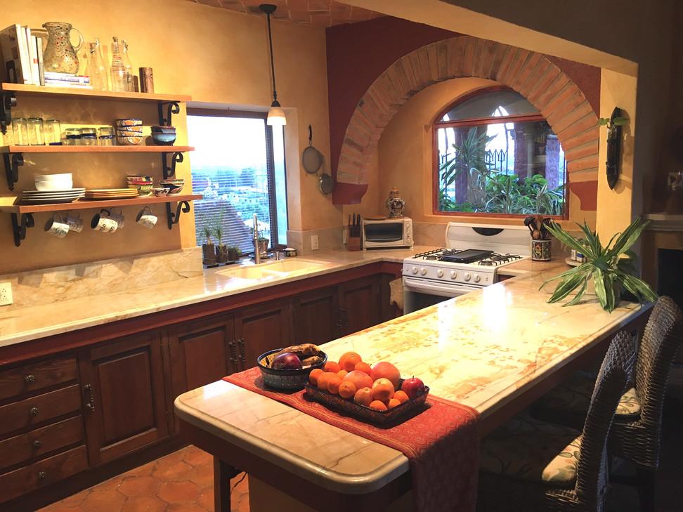 Casa de la Paz kitchen...