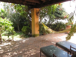 Terrace adjacent to the garden