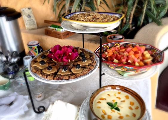 Healthy snacks at San Miguel Retreats.