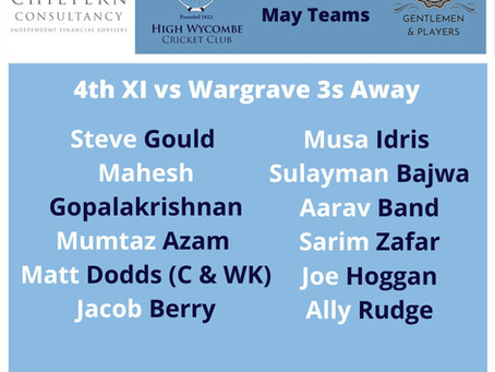 High Wycombe 4th XI Match Report