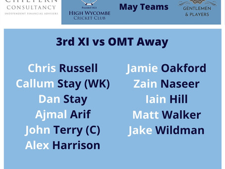 High Wycombe 3rd XI Match Report