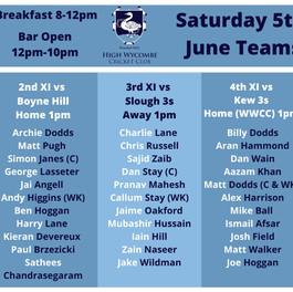 June 5th Fixtures