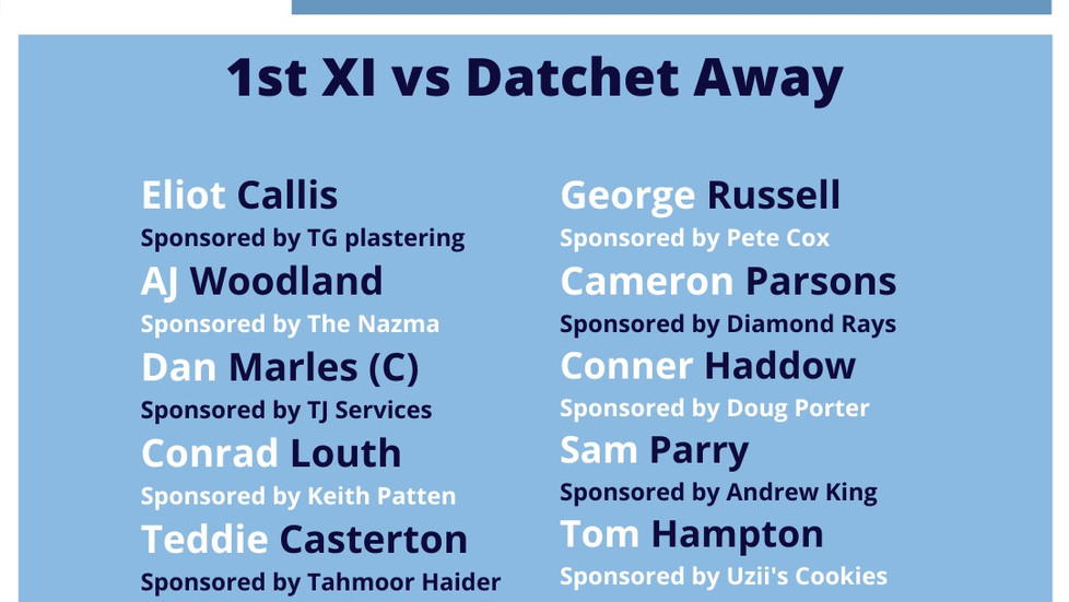 High Wycombe 1st XI Match Report