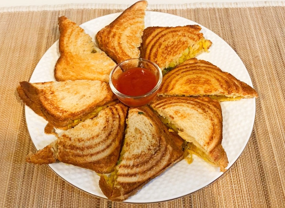 Aloo sandwich in Hindi, Aloo sandwich recipe, Easy aloo sandwich recipe