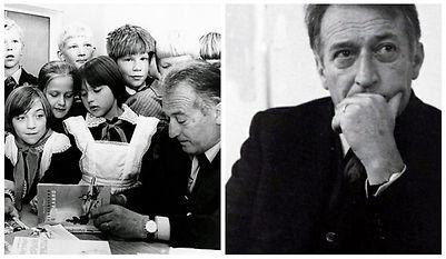 Gianni Rodari circondato da bambini_1979
