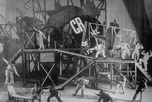 Stage set Meyerhold_The Magnanimous Cuck