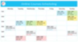 Scheduling Online Courses