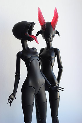 Ball-Jointed Doll - Black Resin
