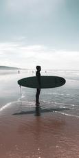 O Surfista na Costa da Caparica, acervo pessoal.