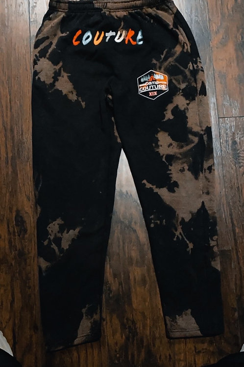 """Camp Couture """"Worldwide"""" Tie Dye Bleached Sweatpants"""