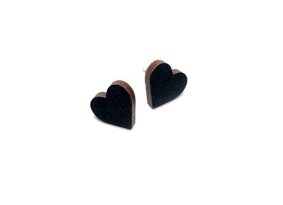 Náušnice srdce černé